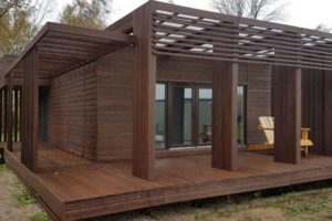 wooden house 60 m
